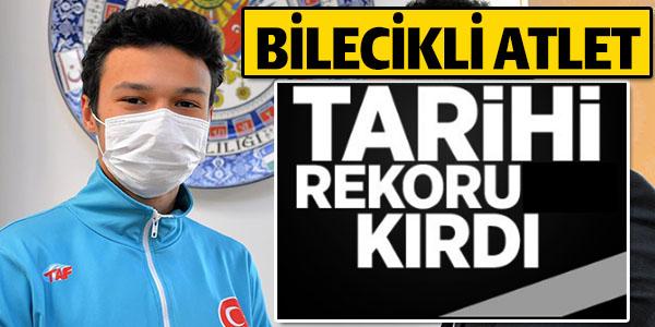 BİLECİK'Lİ ATLET TARİHİ REKORU KIRDI !