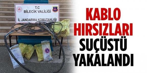 BİLECİK'TE KABLO HIRSIZLARI SUÇ ÜSTÜ YAKALANDI