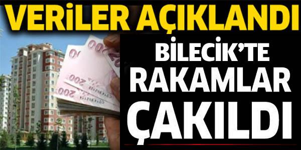 BİLECİK'TE RAKAMLAR ÇAKILDI