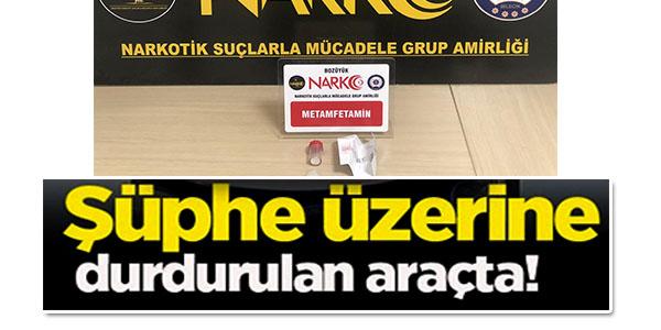 ŞÜPHE ÜZERİNE DURDURULAN ARAÇTA !