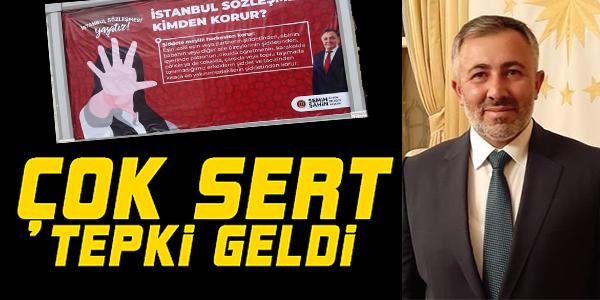 """BİLECİK'TE BİLLBOARDLARA ASILAN """"İSTANBUL SÖZLEŞMESİ KİMDEN KORUR"""" AFİŞİNE TEPKİ"""