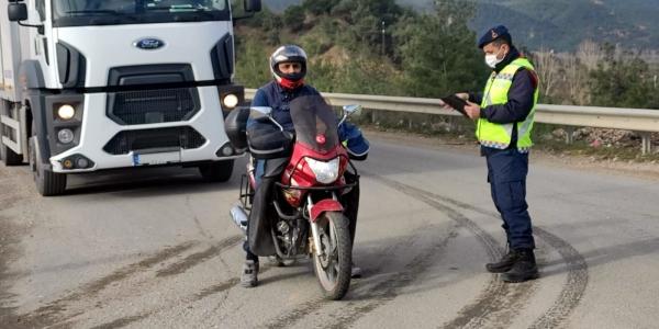 JANDARMADAN MOTOSİKLET DENETİMİ