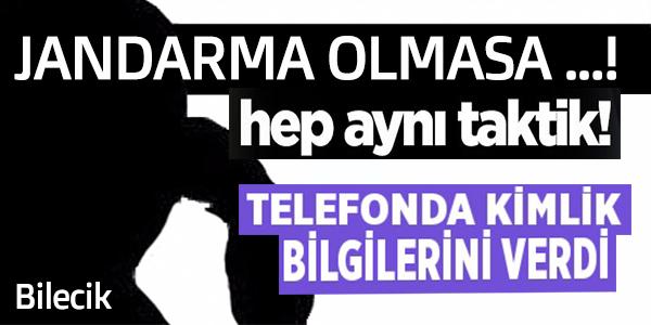 TELEFON DOLANDIRICILIĞI JANDARMA ÖNLEDİ