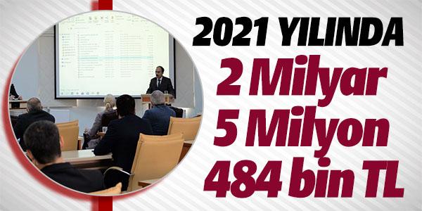 2021 YILINDA 2 MİLYAR 5 MİLYON 484 BİN