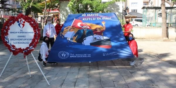 OSMANELİ'NDE 19 MAYIS KUTLANDI