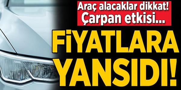 FİYATLARA YANSIDI