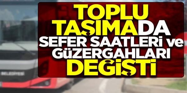 TAM KAPANMA TEDBİRLERİ KAPSAMINDA OTOBÜS SEFERLERİNDE DÜZENLEME YAPILDI