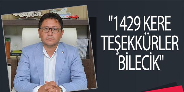 """""""1429 KERE TEŞEKKÜRLER BİLECİK"""""""