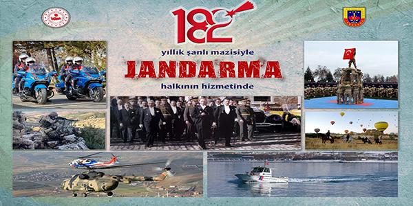 JANDARMANIN 182. KURULUŞ YIL DÖNÜMÜ
