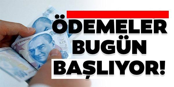 DESTEK ÖDEMELERİ BUGÜN YATIRILIYOR!