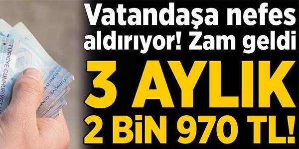 SOSYAL YARDIMLARA DA ZAM GELDİ!