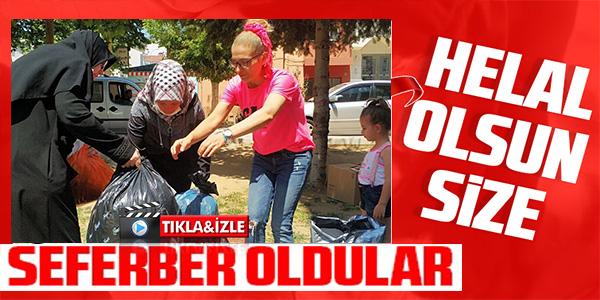 100 ÇUVAL KIYAFET MANAVGAT'A GÖNDERİLDİ