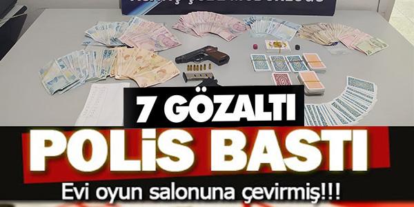 BİLECİK'TE KUMAR BASKINI, 7 KİŞİ GÖZALTINA ALINDI