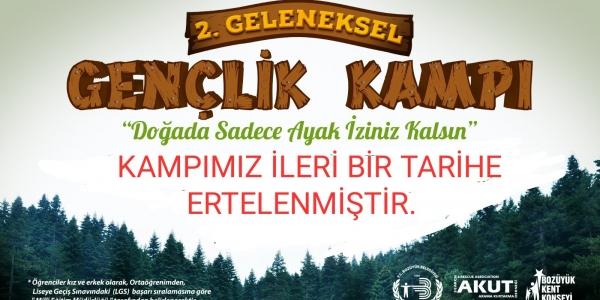 GENÇLİK KAMPI ERTELENDİ