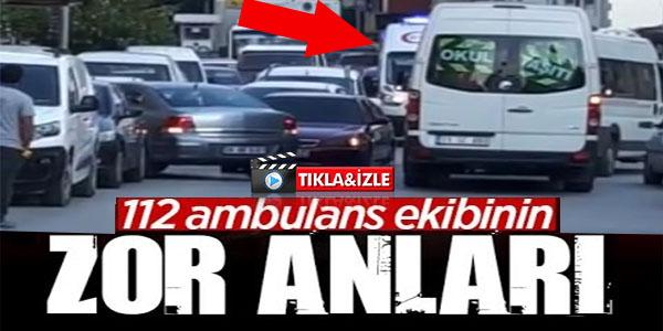 BİLECİK'TE HASTAYA GİDEN AMBULANSIN ZOR ANLARI