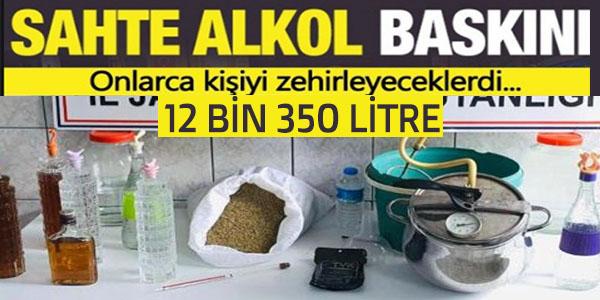 BİLECİK'TE SAHTE ALKOL BASKINI