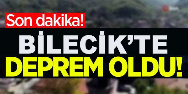 BİLECİK'TE DEPREM MEYDANA GELDİ