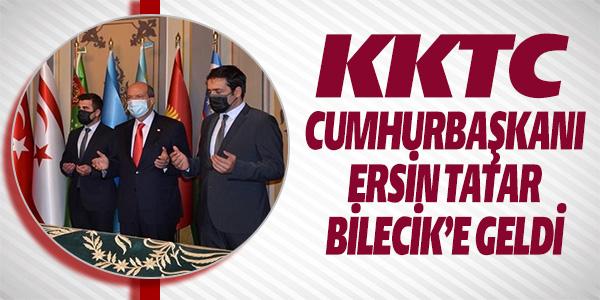 KKTC CUMHURBAŞKANI ERSİN TATAR BİLECİK'E GELDİ