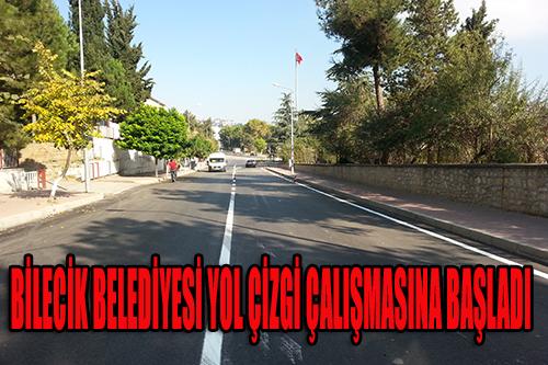 Yenilenen cadde ve sokak yollarında çizgi çalışmaları yapıldı...