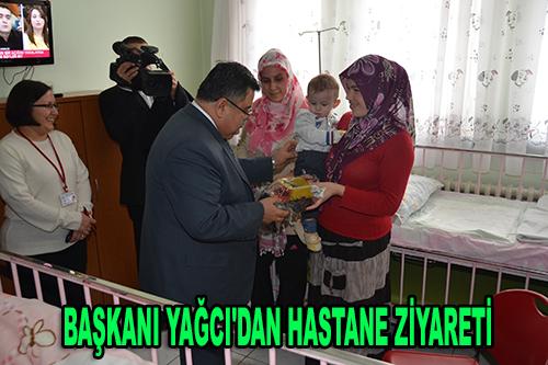 Başkan Yağcı'dan hastane ziyareti