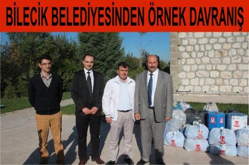 BİLECİK BELEDİYESİN'DEN öRNEK DAVRANIŞ..