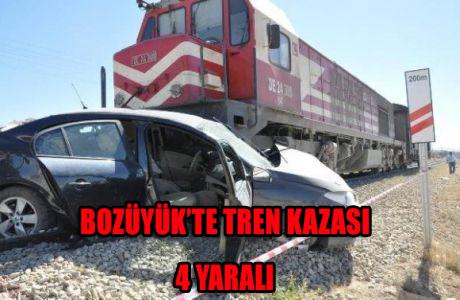 BOZÜYÜK'TE TREN KAZASI 4 YARALI