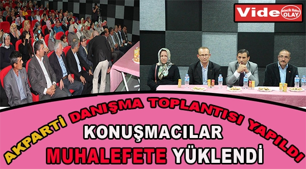 AKPARTİ DANIŞMA TOPLANTISI YAPILDI KONUŞMACILAR CHP VE MHP YÜKLENDİ