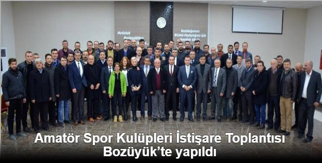 AMATÖR SPOR KULÜPLERİ İSTİŞARE TOPLANTISI BOZÜYÜK'TE YAPILDI