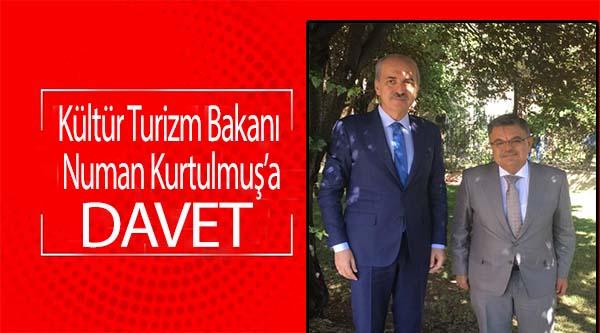 BAŞKAN YAĞCI, BAKAN KURTULMUŞ'U TİYATRO FESTİVALİNE DAVET ETTİ