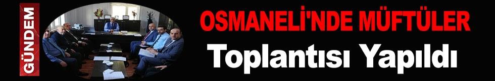 OSMANELİ'NDE MÜFTÜLER TOPLANTISI YAPILDI