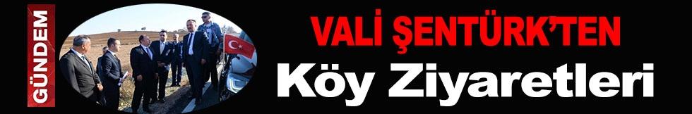 VALİ ŞENTÜRK'TEN KÖY ZİYARETLERİ