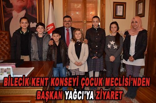 Bilecik Kent Konseyi Çocuk Meclisi'nden Başkan Selim Yağcı'ya Ziyaret