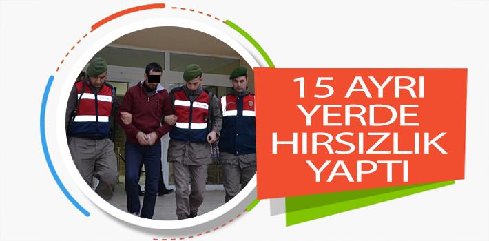 BİLECİK'TE 15 AYRI YERDE HIRSIZLIK YAPAN ŞAHIS TUTUKLANDI