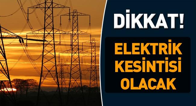BİLECİK'TE ELEKTRİK KESİNTİSİ