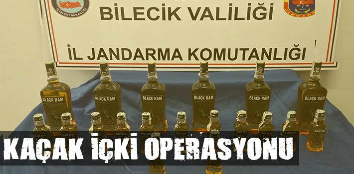 BİLECİK'TE KAÇAK İÇKİ OPERASYONU