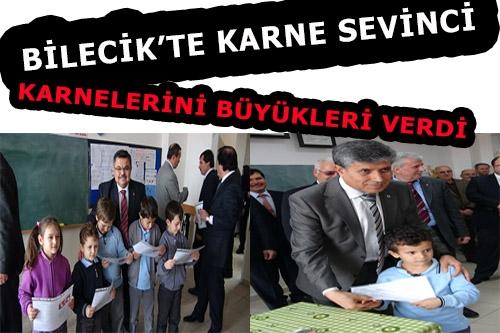 BİLECİK'TE KARNE SEVİNC