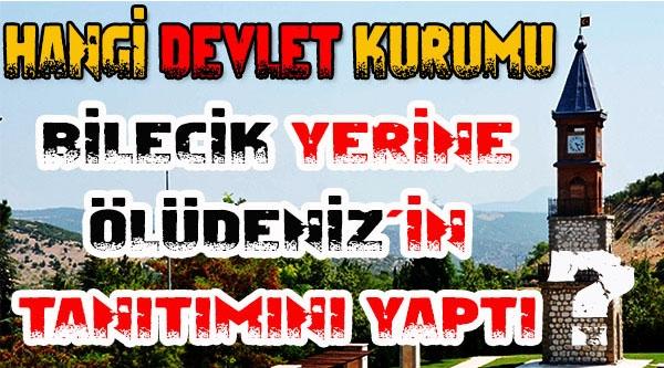BİLECİK'TE ÖLÜDENİZ TANITIM FOTOĞRAFLARINA TEPKİ