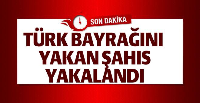 BİLECİK'TE TÜRK BAYRAKLARINI YAKAN ŞAHIS YAKALANDI