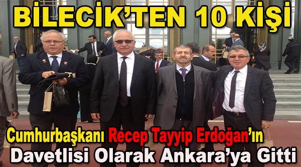 BİLECİK'TEN CUMHURBAŞKANI RESEPSİYONUNA 10 KİŞİ DAVET EDİLDİ