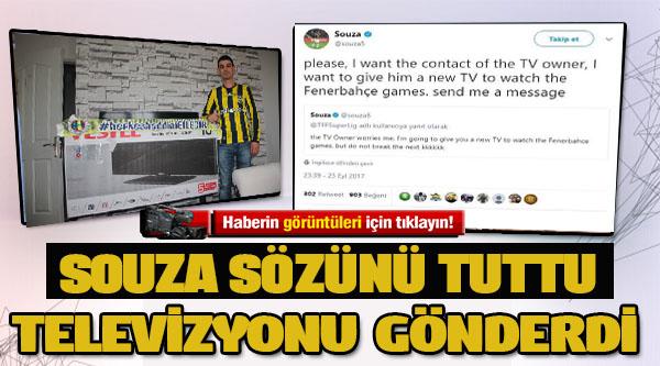 FENERBAHÇELİ OZAN GOL KAÇIRDI, TELEVİZYON KIRDI