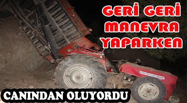GERİ GERİ MANEVRA YAPARKEN AZ DAHA CANINDAN OLUYORDU
