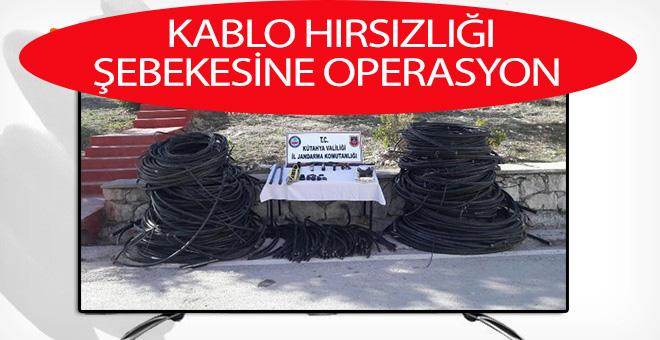 KABLO HIRSIZLIĞI ŞEBEKESİNE OPERASYON
