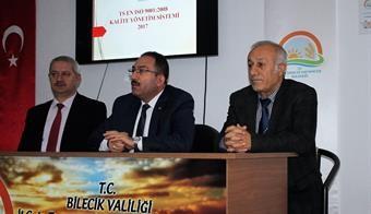 KALİTE YÖNETİM SİSTEMİ BİLGİLENDİRME TOPLANTISI DÜZENLENDİ