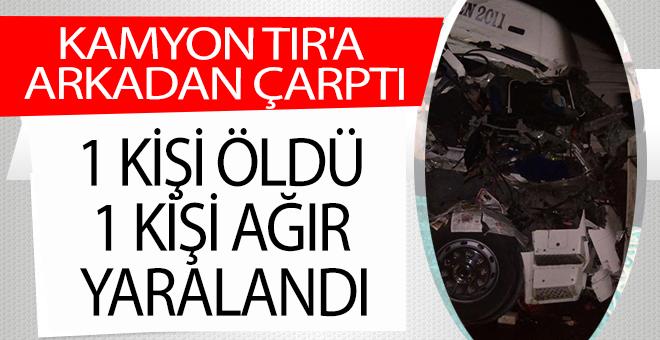 OSMANELİ'NDE TRAFİK KAZASI, 1 ÖLÜ, 1 AĞIR YARALI