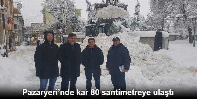 PAZARYERİ BELEDİYESİ'NDE KARLA MÜCADELE ÇALIŞMALARI