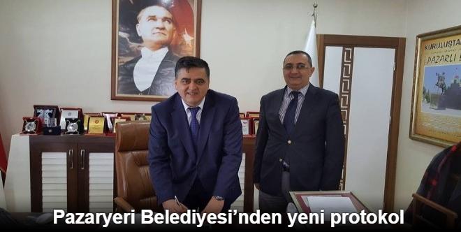 PAZARYERİ BELEDİYESİ'NDEN YENİ PROTOKOL