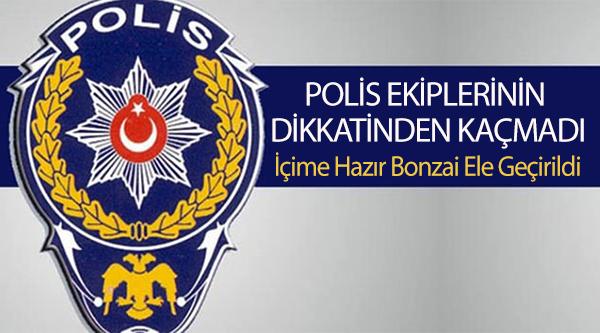 POLİS EKİPLERİNİN DİKKATİNDEN KAÇMADI