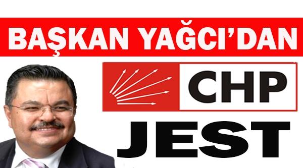 SELİM YAĞCI'DAN CHP ÜYELERE JEST