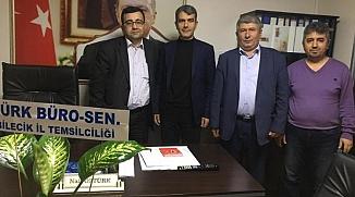 TÜRK BÜRO-SEN'DEN MERKEZ İLÇE BAŞKANLIĞI'NA ZİYARET