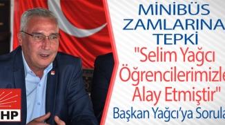 CHP'DEN  MİNİBÜS ZAMLARINA TEPKİ